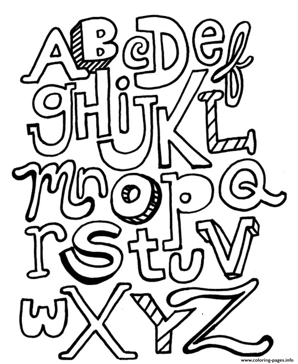 Alphabet S Printable Abc Letters3a36 Coloring Pages Printable
