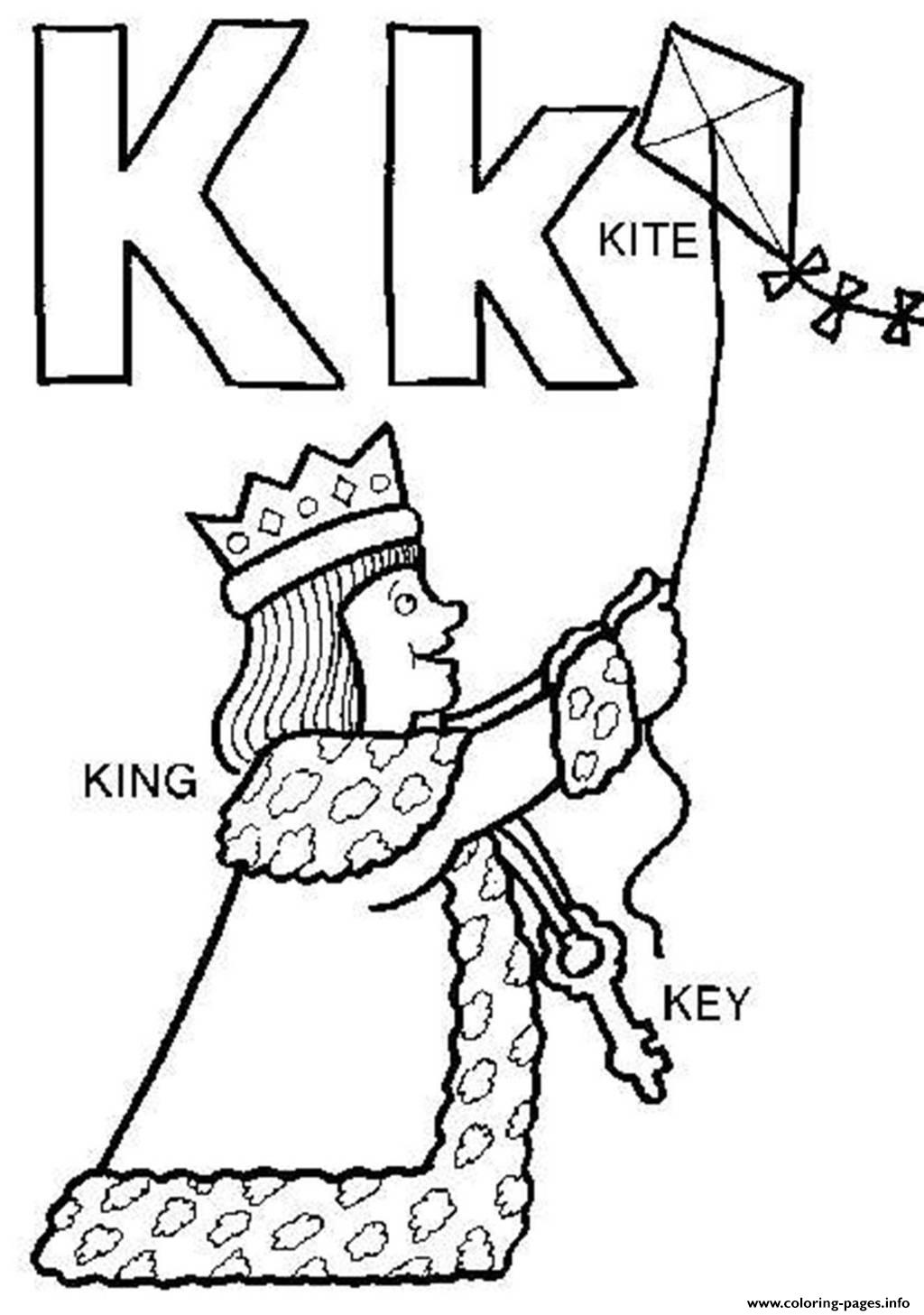 King And Kite Alphabet S Freed97d Coloring Pages Printable