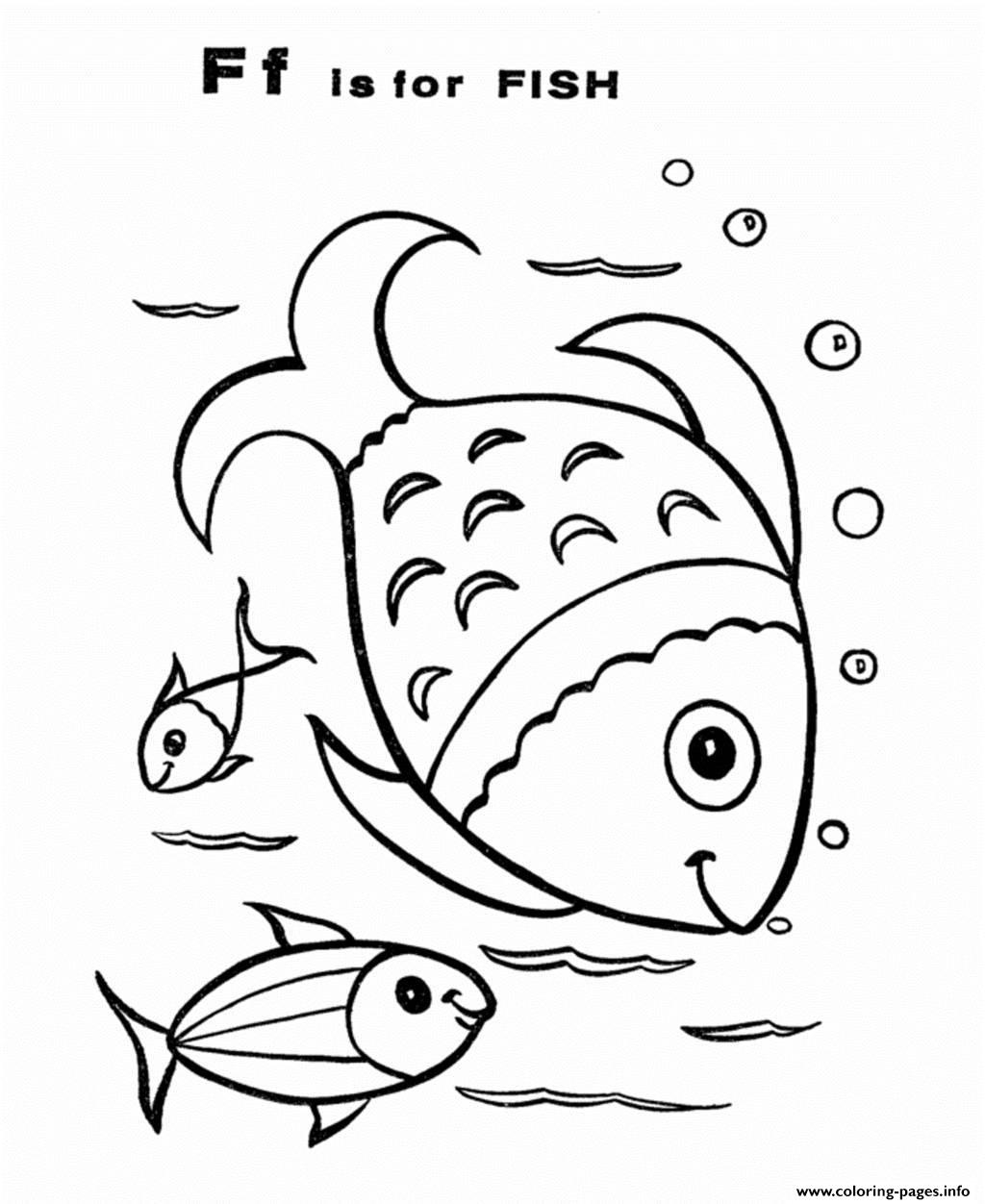 Fish Free Alphabet S1fc1 Coloring Pages Printable