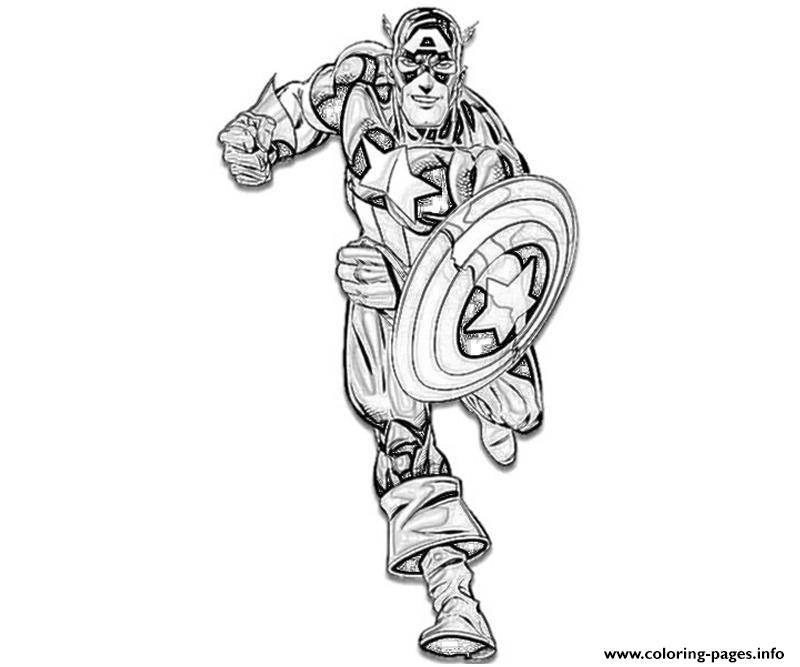 Ready To Fight Captain America Coloring Page032b Coloring