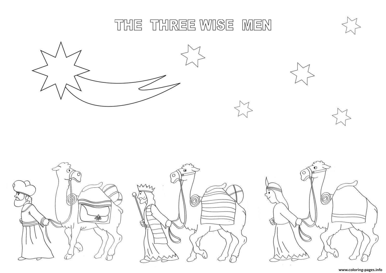 The Three Wise Men Christmas S For Kids818f Coloring Pages