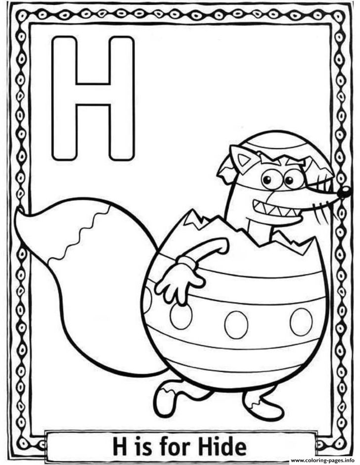 Dora The Explorer Alphabet Coloring Pages - Funny Coloring Page ...