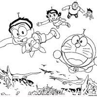 Wallpaper Hd Coloring Pages Doraemon For Monarch Butterflies Mobile Phones Doraemoncoloringpages Doraemon Printable
