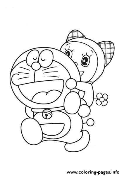 Doraemon And Dorami 8a71 Coloring Pages Printable
