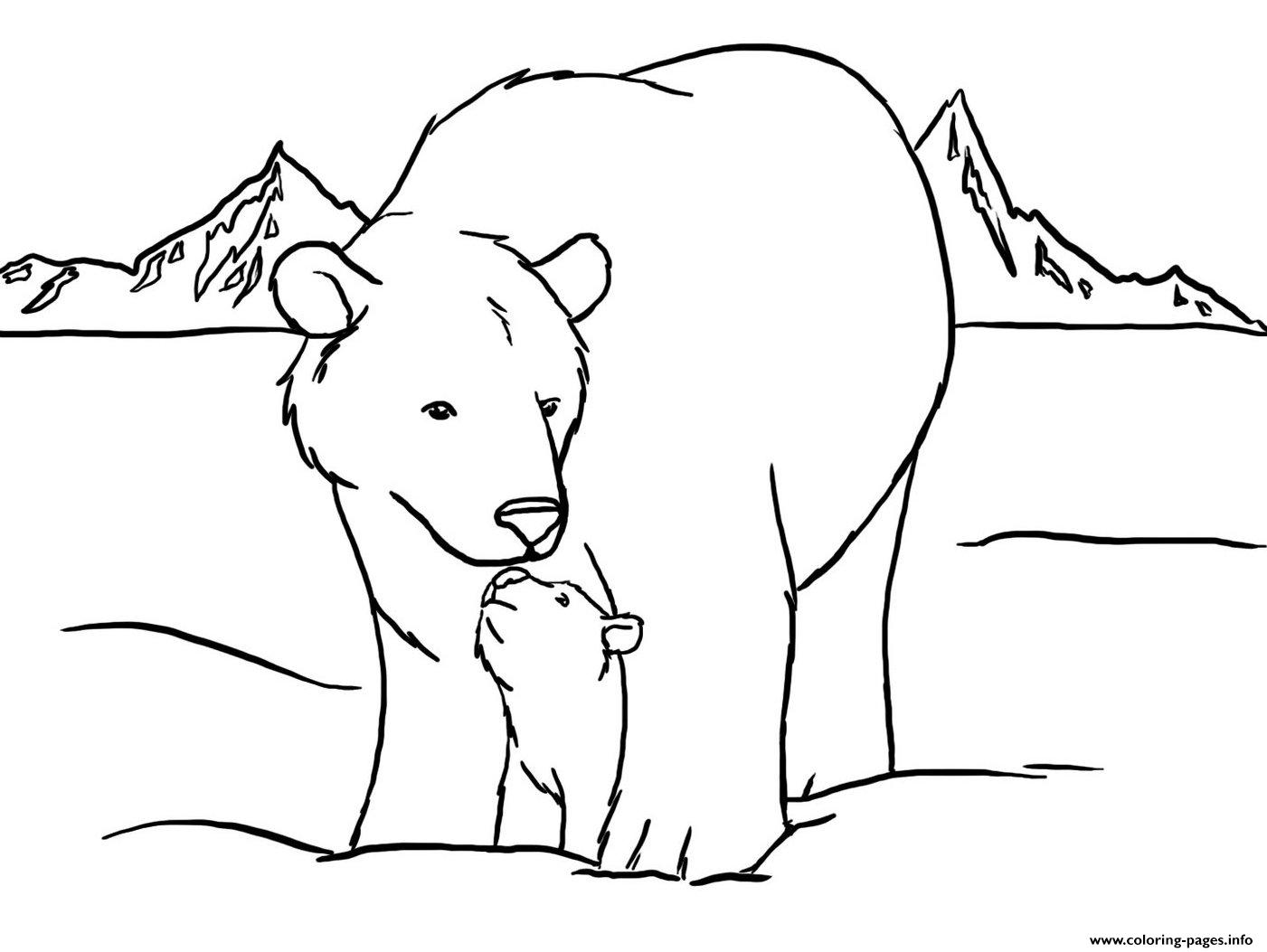 Cute Polar Bear Color Pages To Print9b5d Coloring Pages