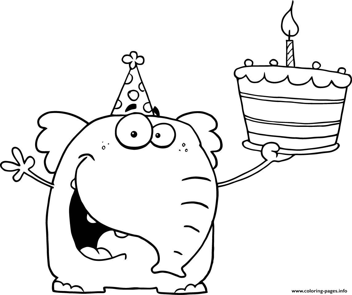 Happy Birthday Coloring Pages Free Printable
