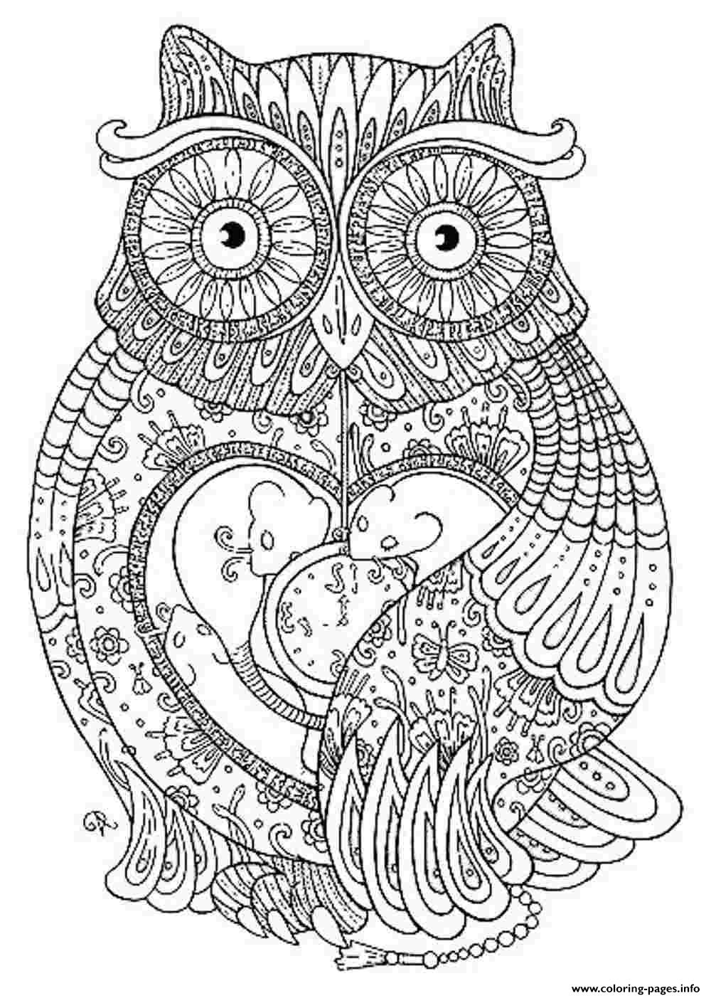 Animal Coloring Pages For Adults Coloring Pages Printable | free printable coloring pages for adults only animals