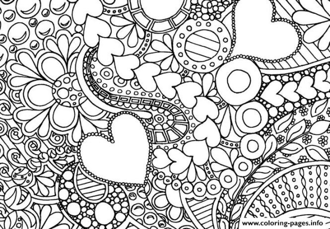 Heart Love Valentin Day Coloring Pages
