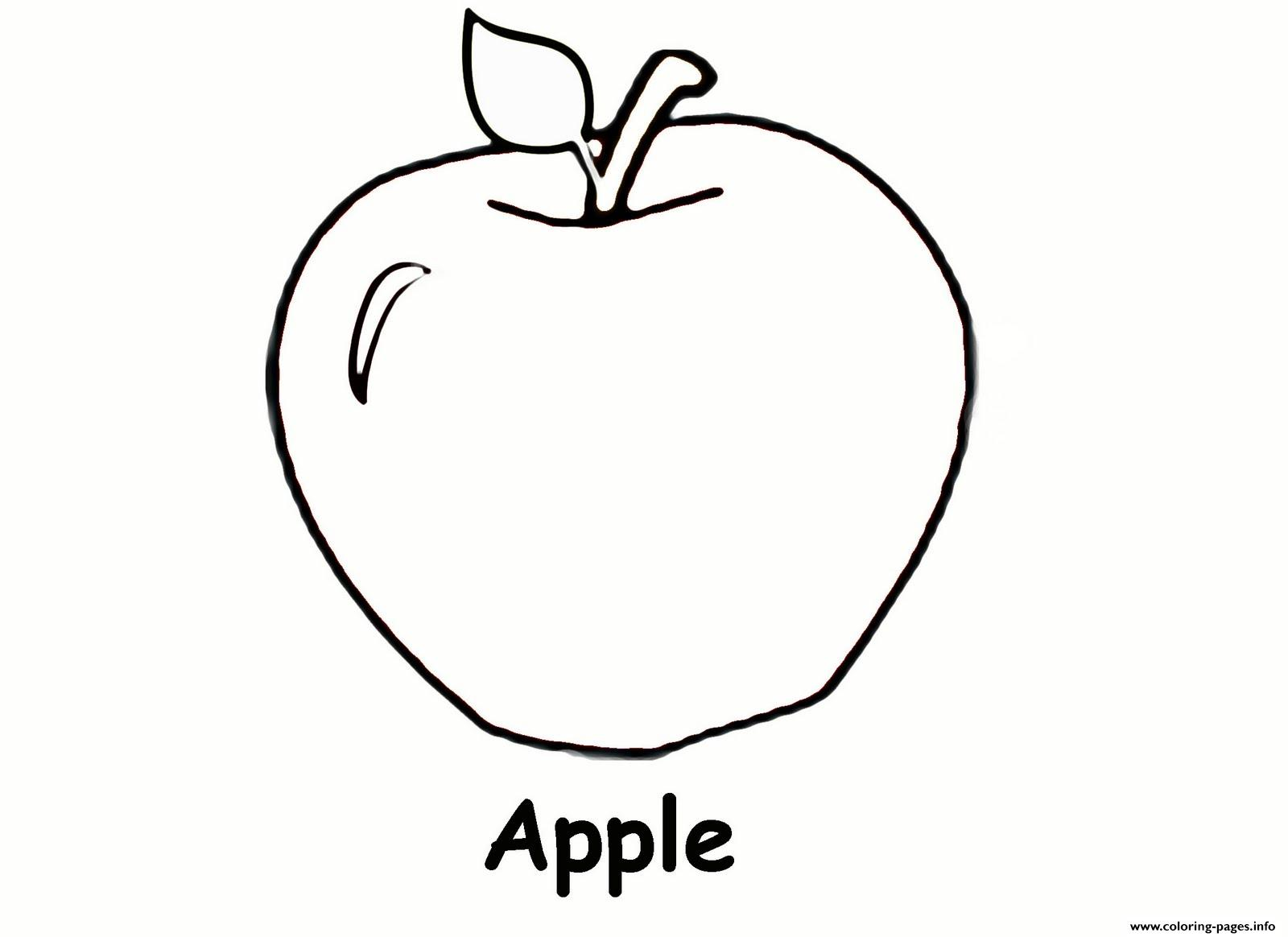 Apple Fruit S Coloring Pages Printable
