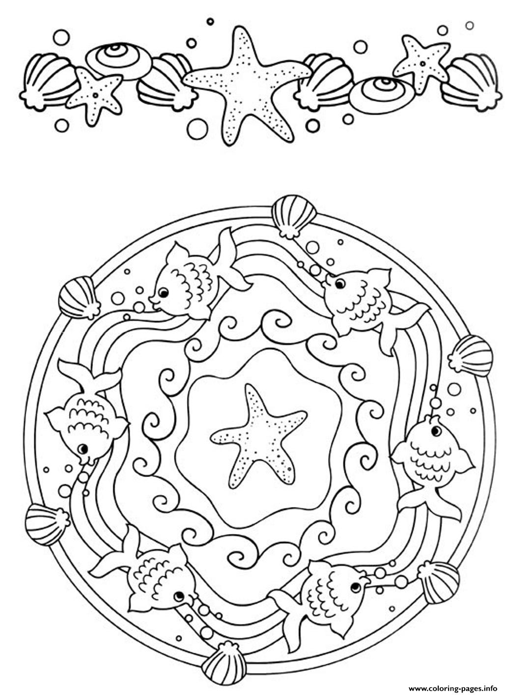 Mandala S Beautiful Oceandbb2 Coloring Pages Printable
