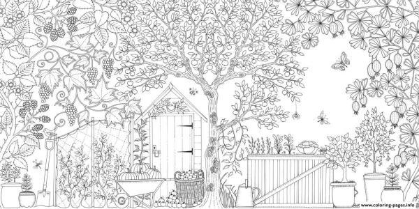 garden coloring page # 36