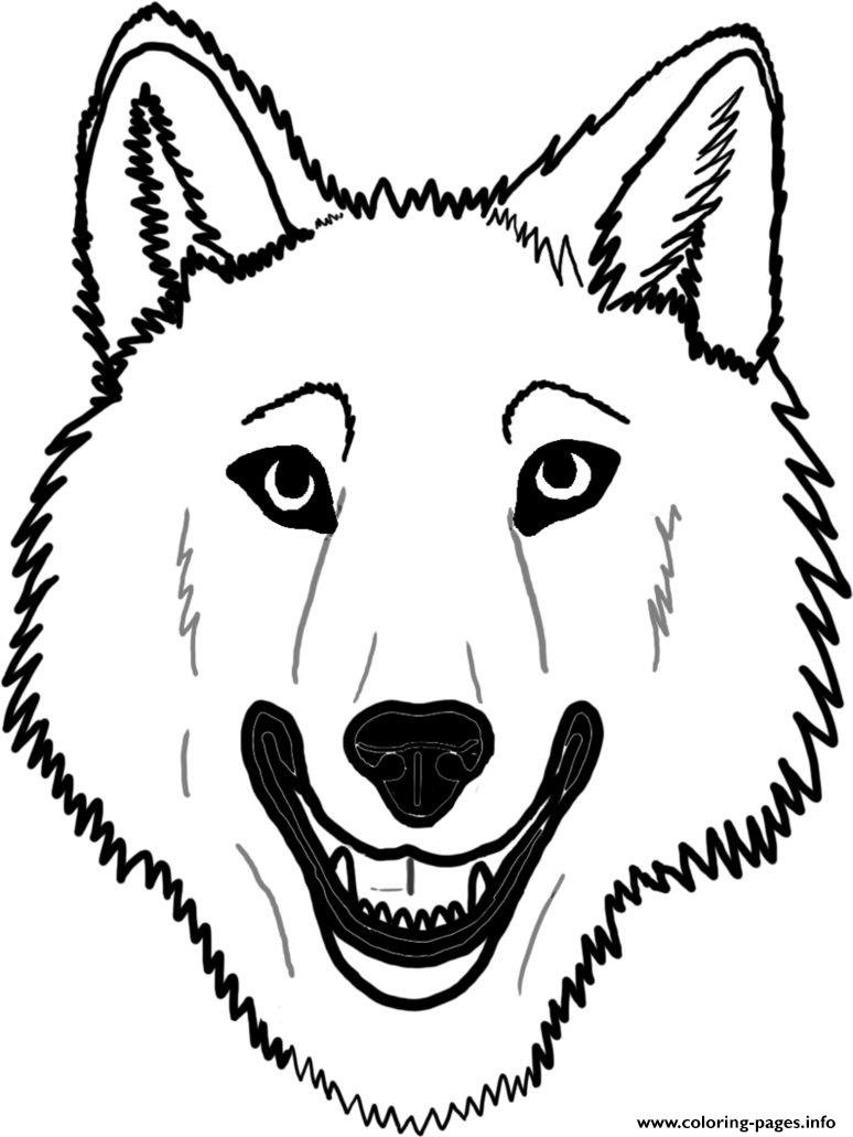 Wolf Face Coloring Pages Printable