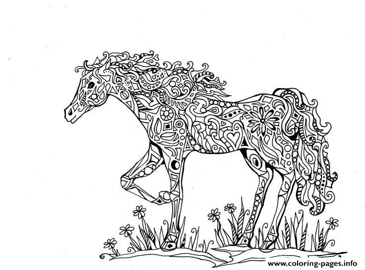 Adults Difficult Animals Horse Printable Hd Coloring Pages