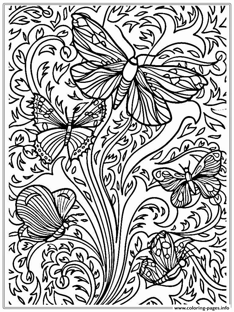Free Printable Adult Butterfly Sheet Coloring Pages Printable