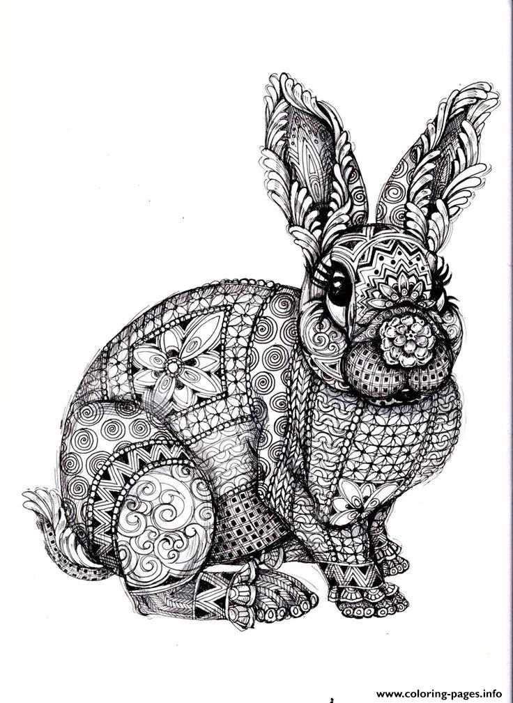 Adults Difficult Animals Coloring Pages Printable   colouring pages animals hard