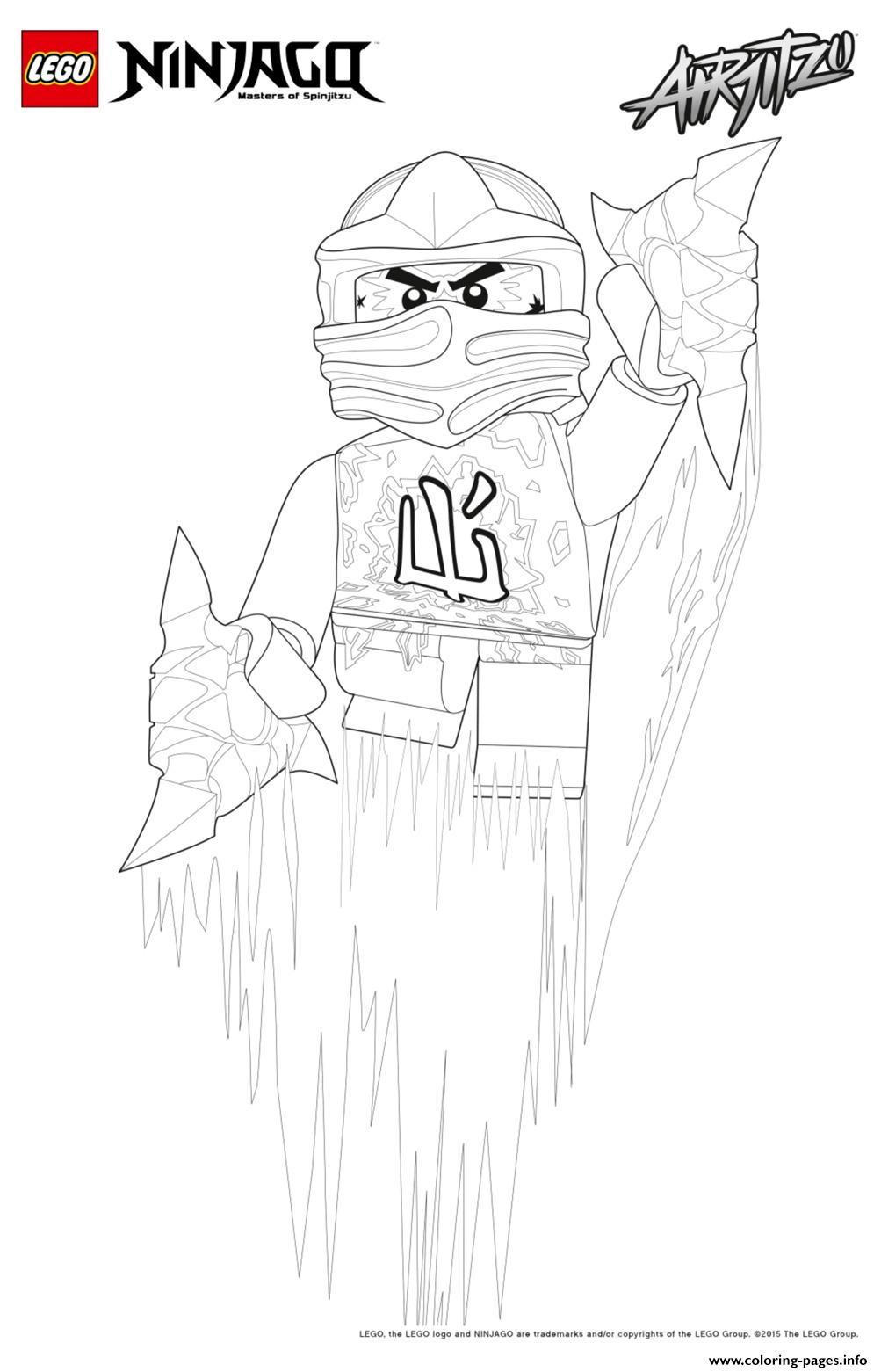 Cole Ninjago Jumped Up Coloring Pages Printable