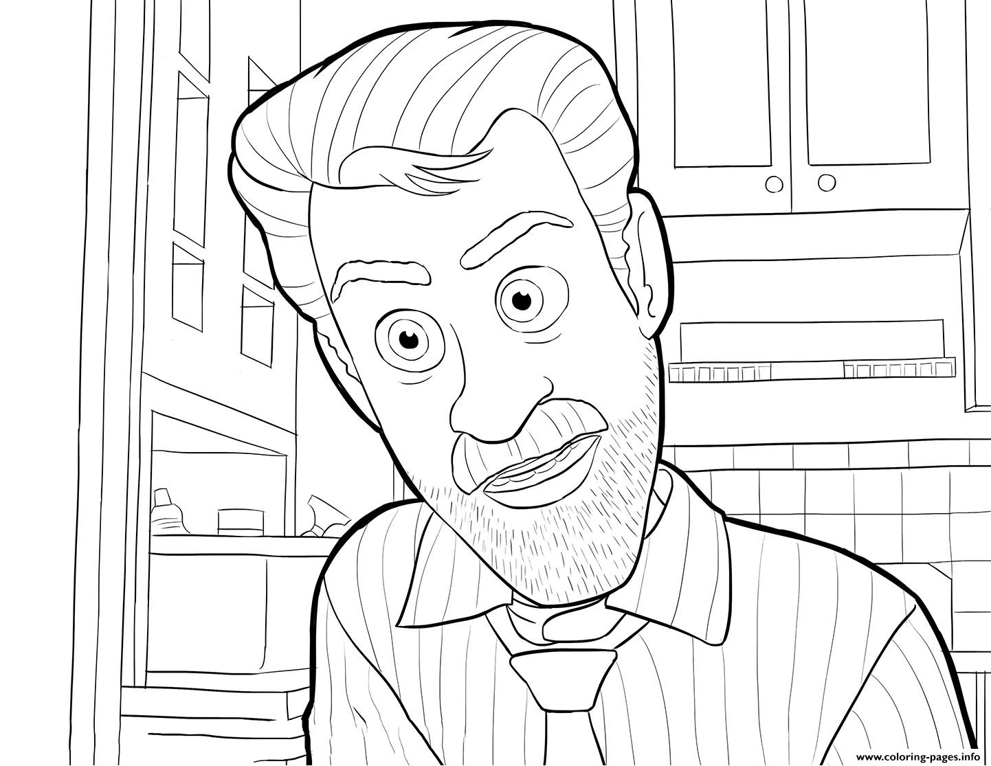 Riley Dad Inside Out Coloring Pages Printable