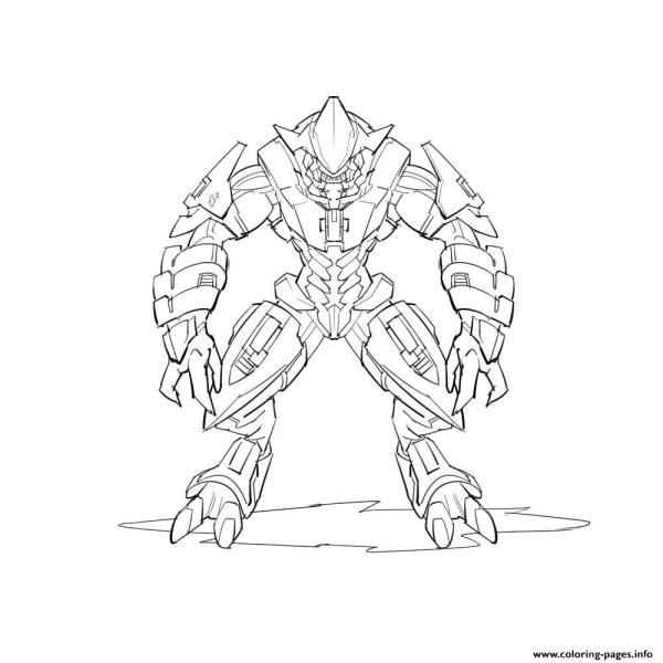 coloring pages halo # 52
