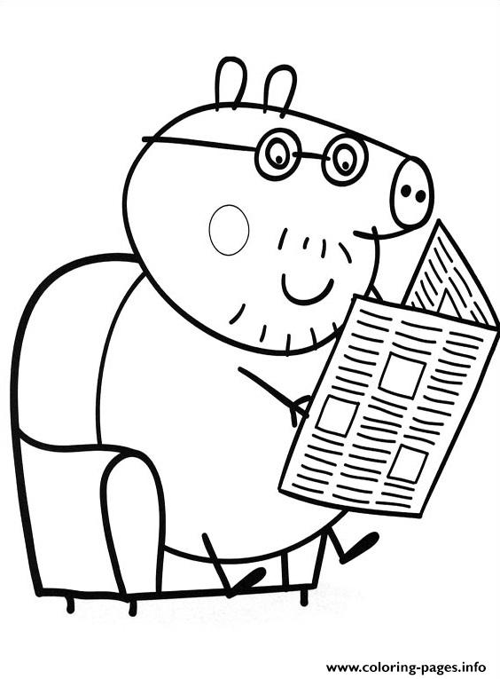 Peppa Pig Reading Journal Coloring Pages Printable