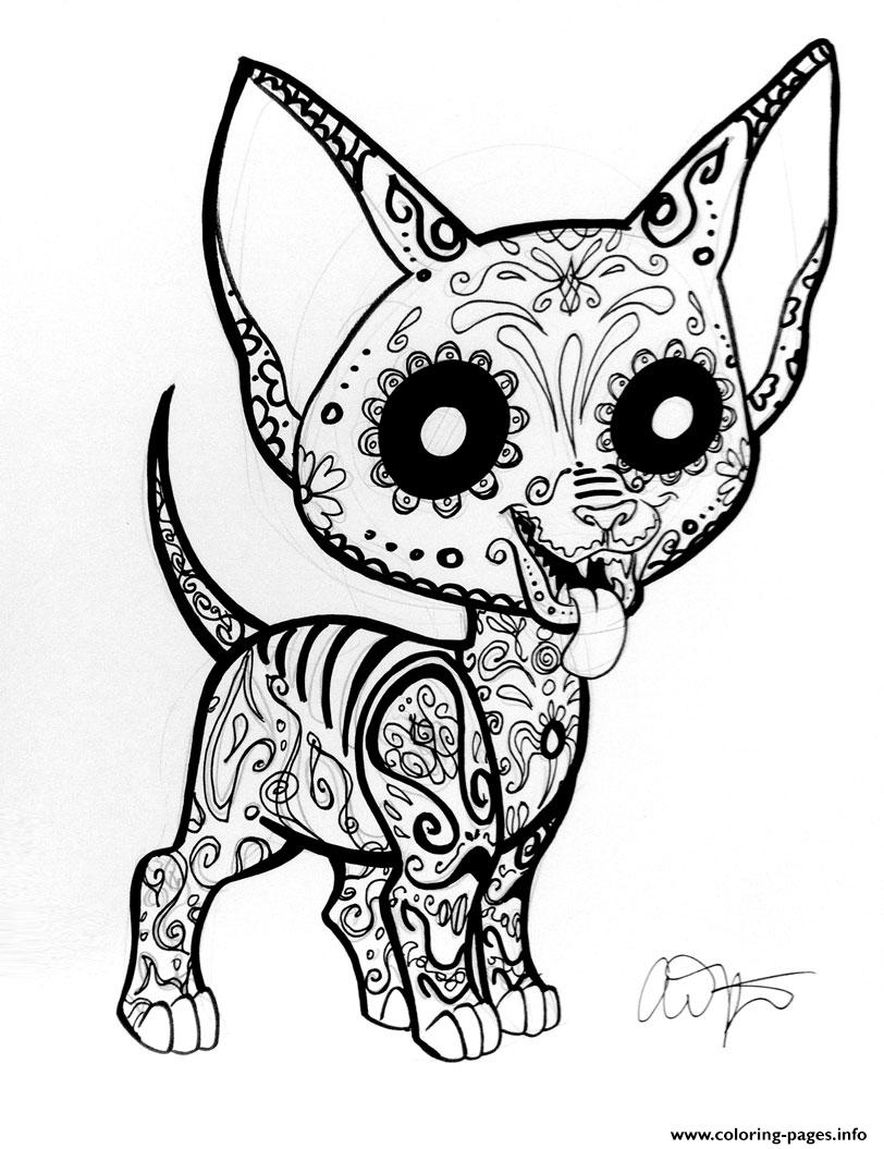 Car Sugar Skull Cute Coloring Pages Printable