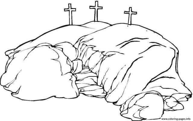 Good Friday Calvary Coloring Pages Printable