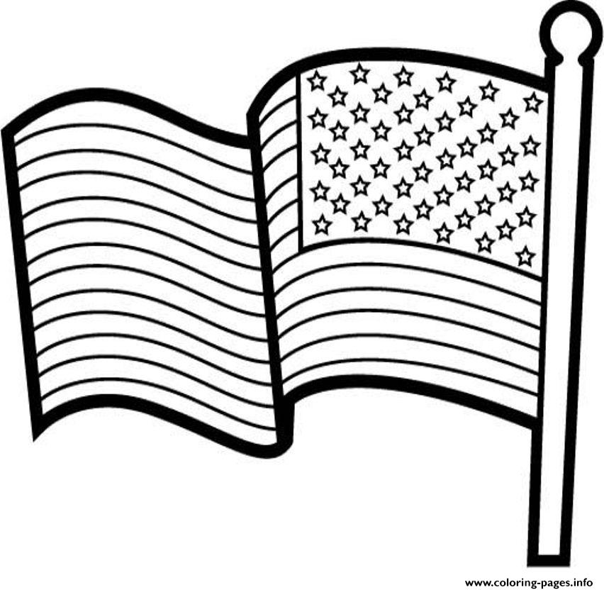 American Flag For Kids Coloring Pages Printable