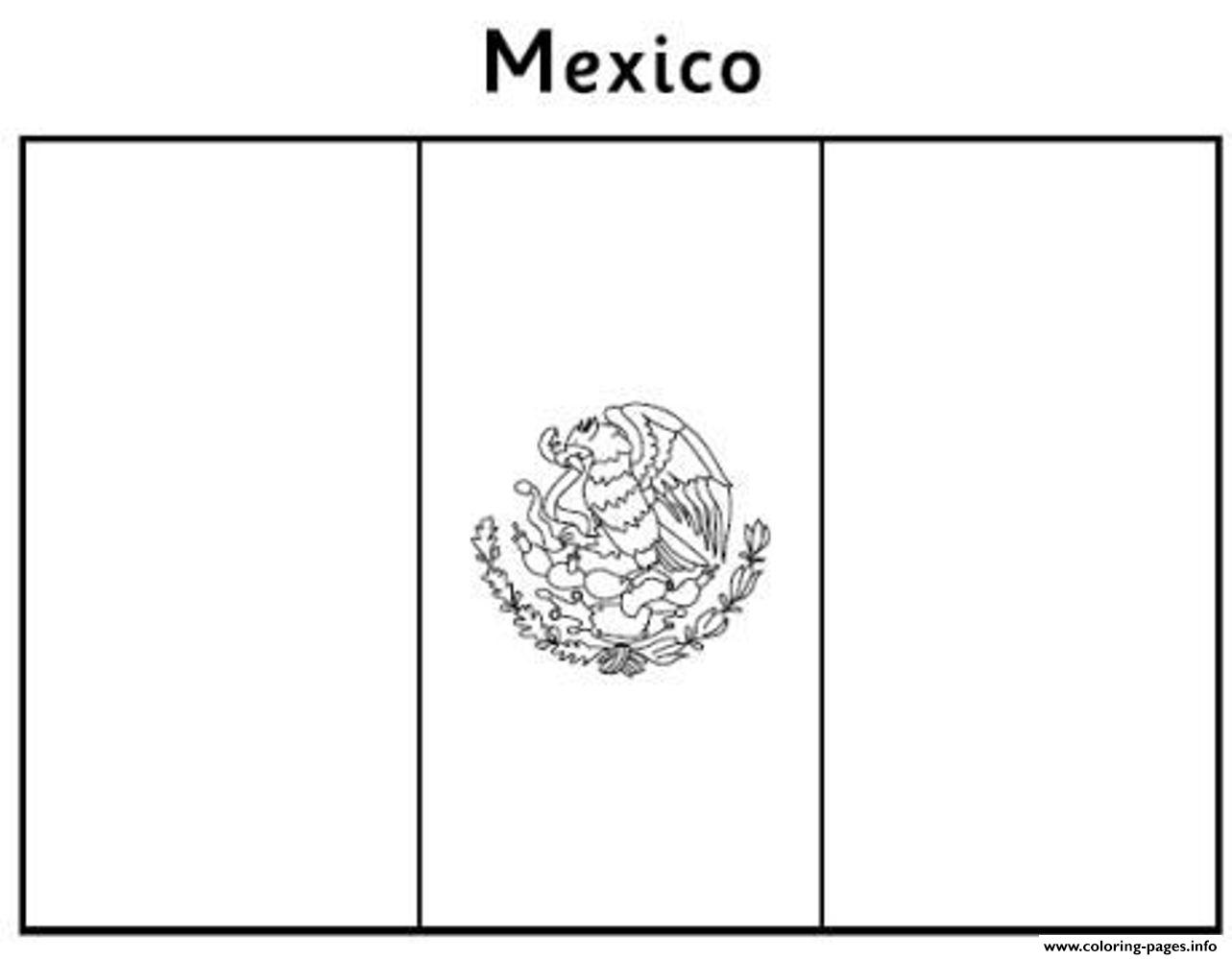 Free Mexican Flag E357 Coloring Pages Printable