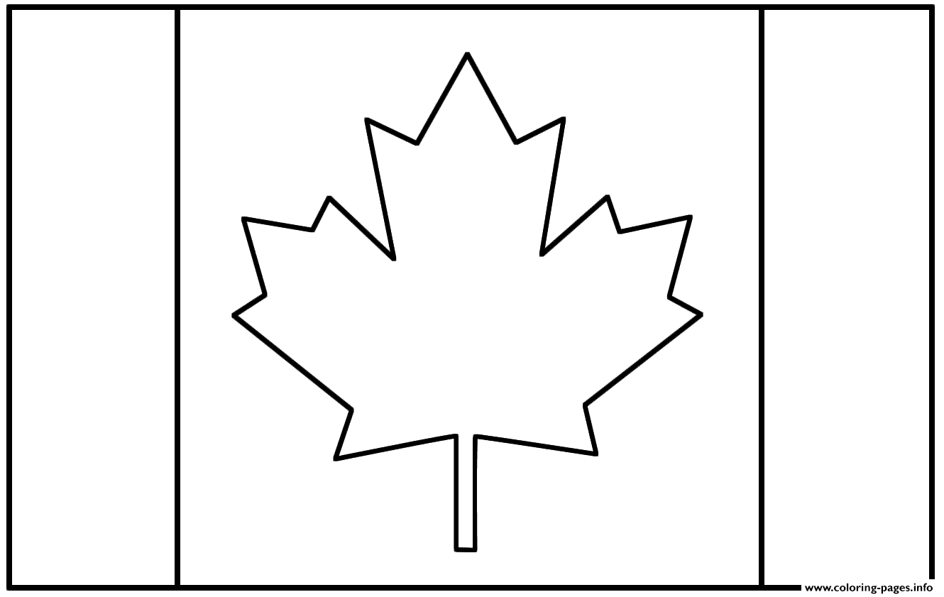 Canadian Flag Coloring Pages Printable