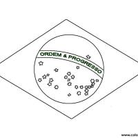 Free Brazil Flag S3a3b Coloring Pages Printable
