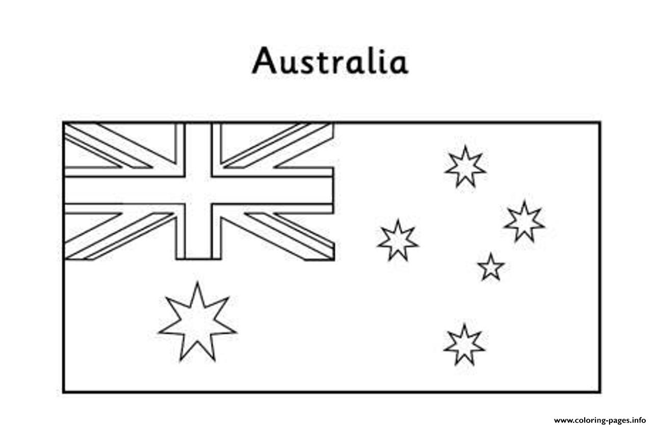Australian Flag Free Coloring Pages Printable