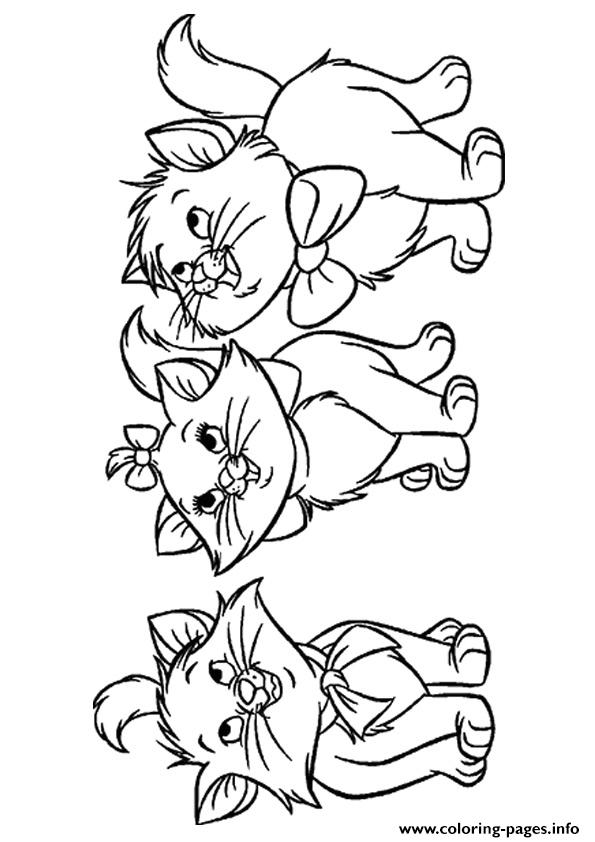 The Three Orphan Kittens Kitten Coloring Pages Printable