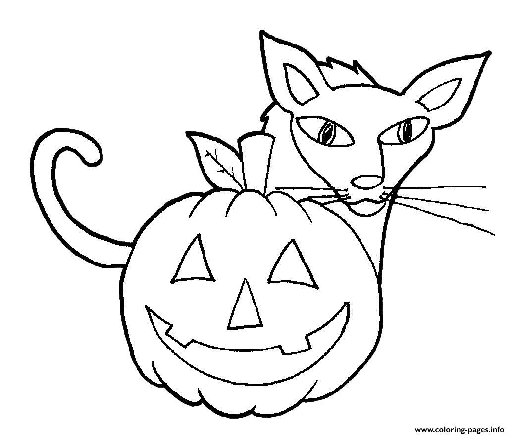 Easy Halloween Cat And Pumpkin S For Kindergarten27d9