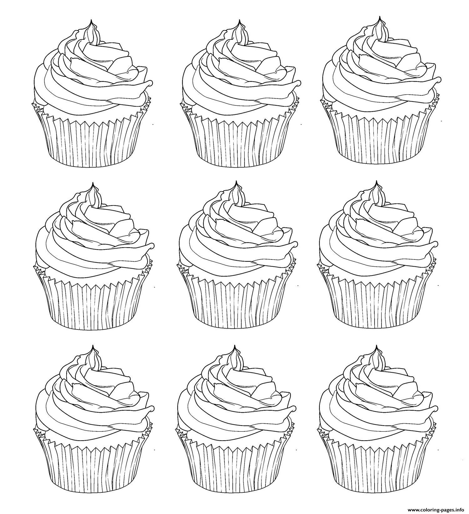 Cupcakes Warhol Coloring Pages Printable