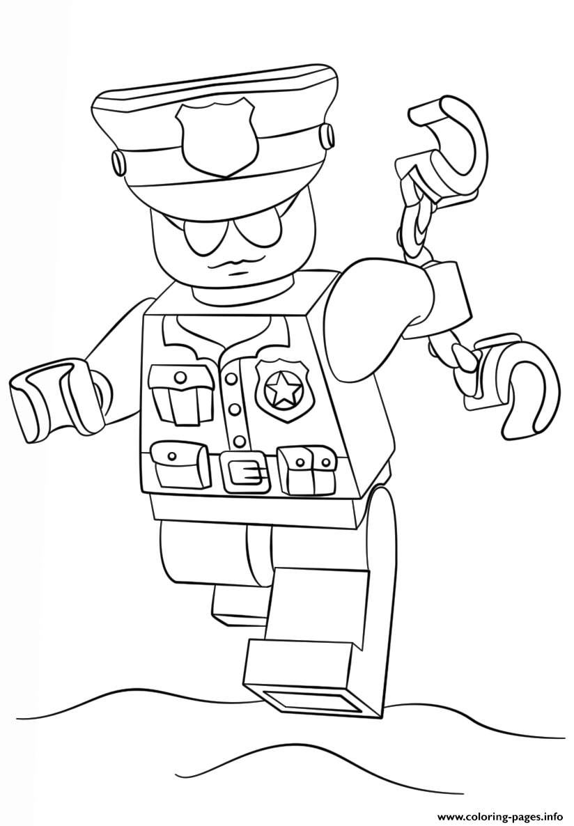 Lego Police Officer City Coloring Pages Printable