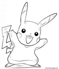 Pikachu Pokemon Coloring Pages Printable