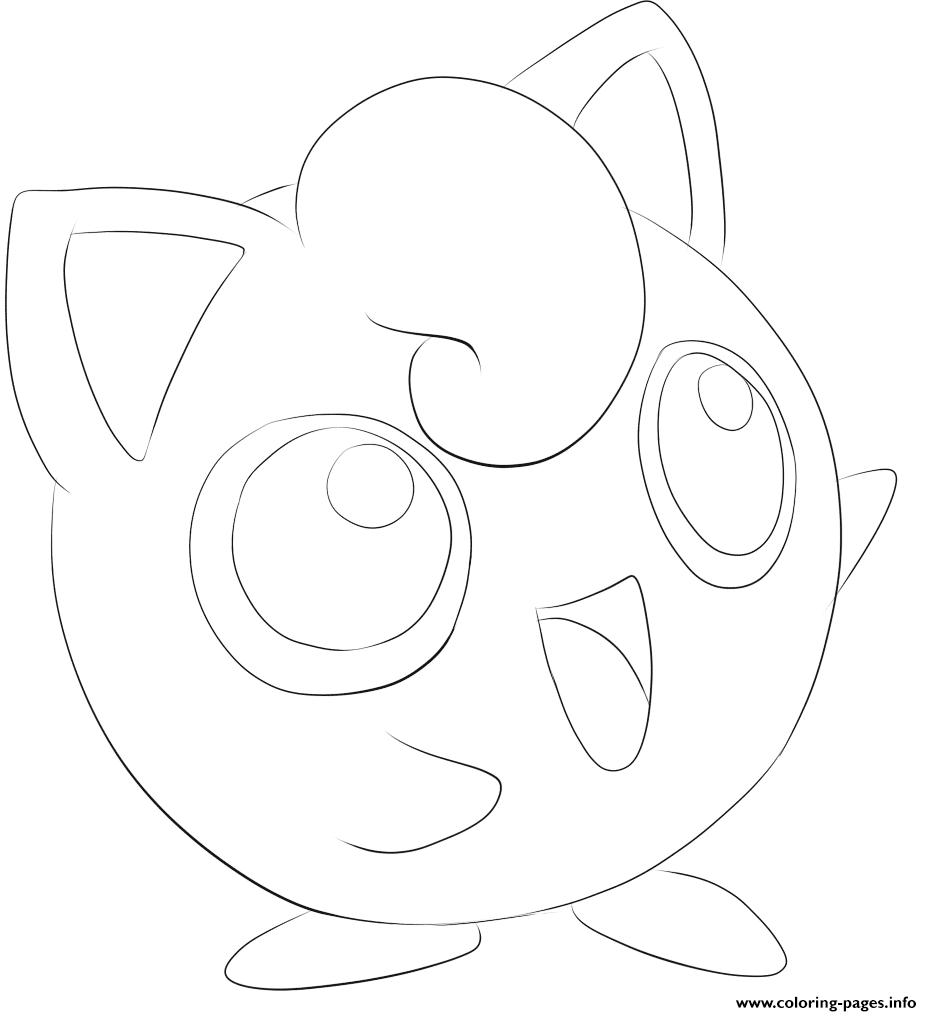 039 Jigglypuff Pokemon Coloring Pages Printable