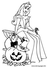 The Sleeping Beauty Halloween Disney Halloween Coloring ...
