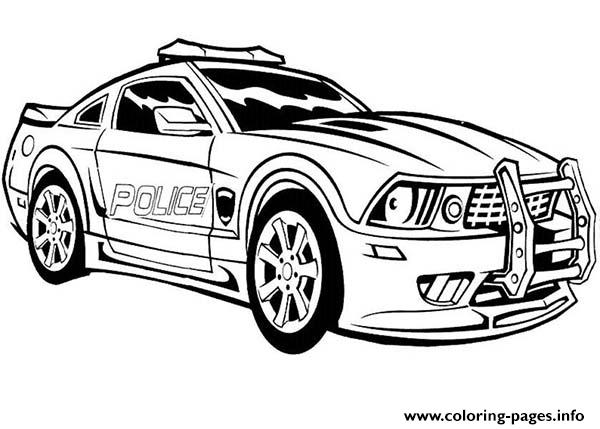 Dodge Charger Police Car Hot Coloring Pages Printable