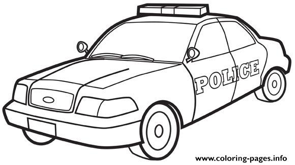 Police Car Coloring Pages Printable