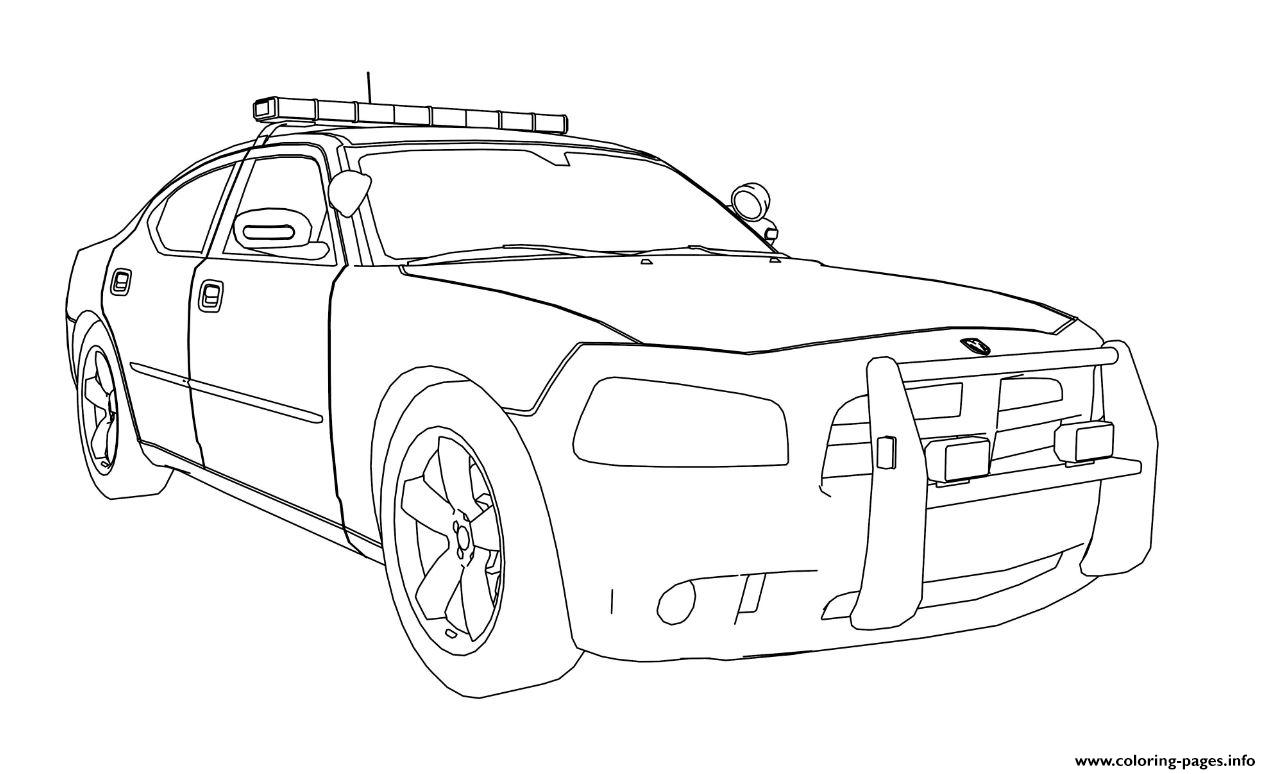 Dodge Charger Car Coloring Pages Printable