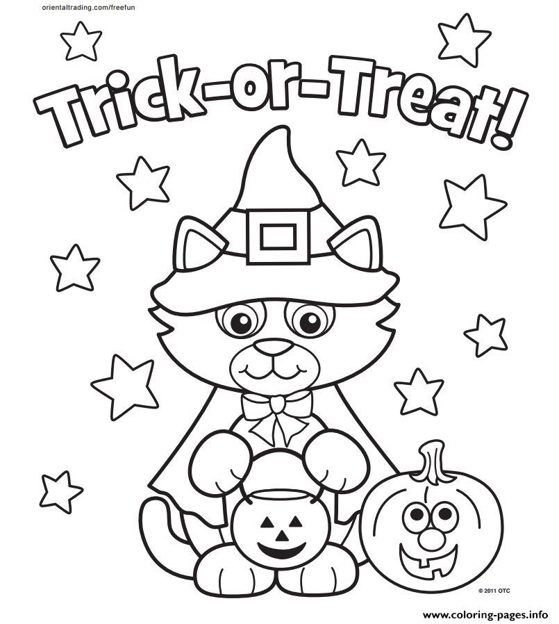 cat halloween costum kitty coloring pages printable
