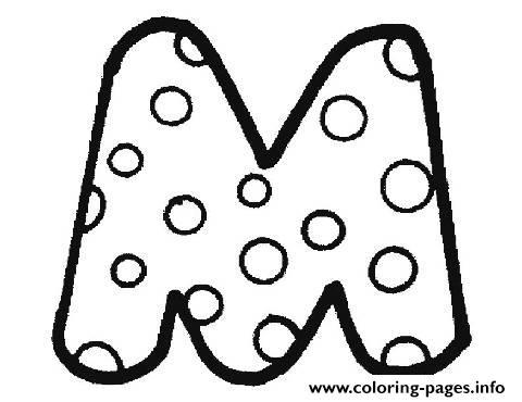 Bubble Letter M Coloring Pages Printable