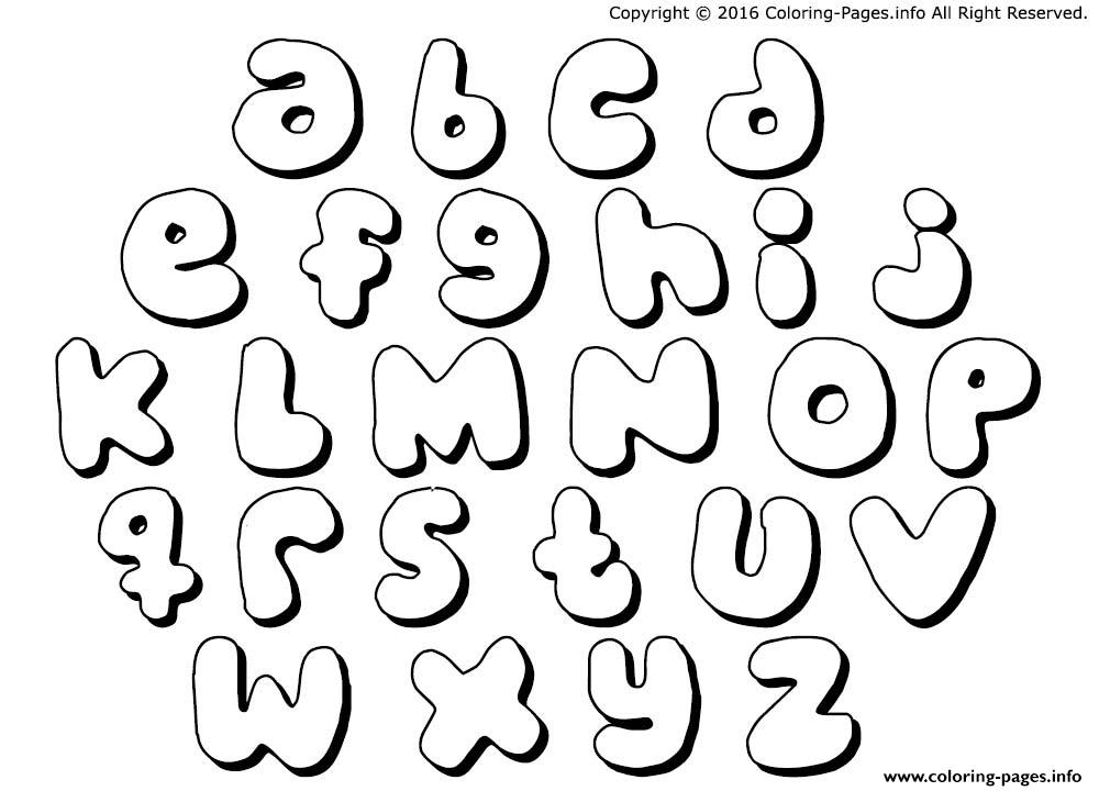 Free Printable Lowercase Bubble Letters