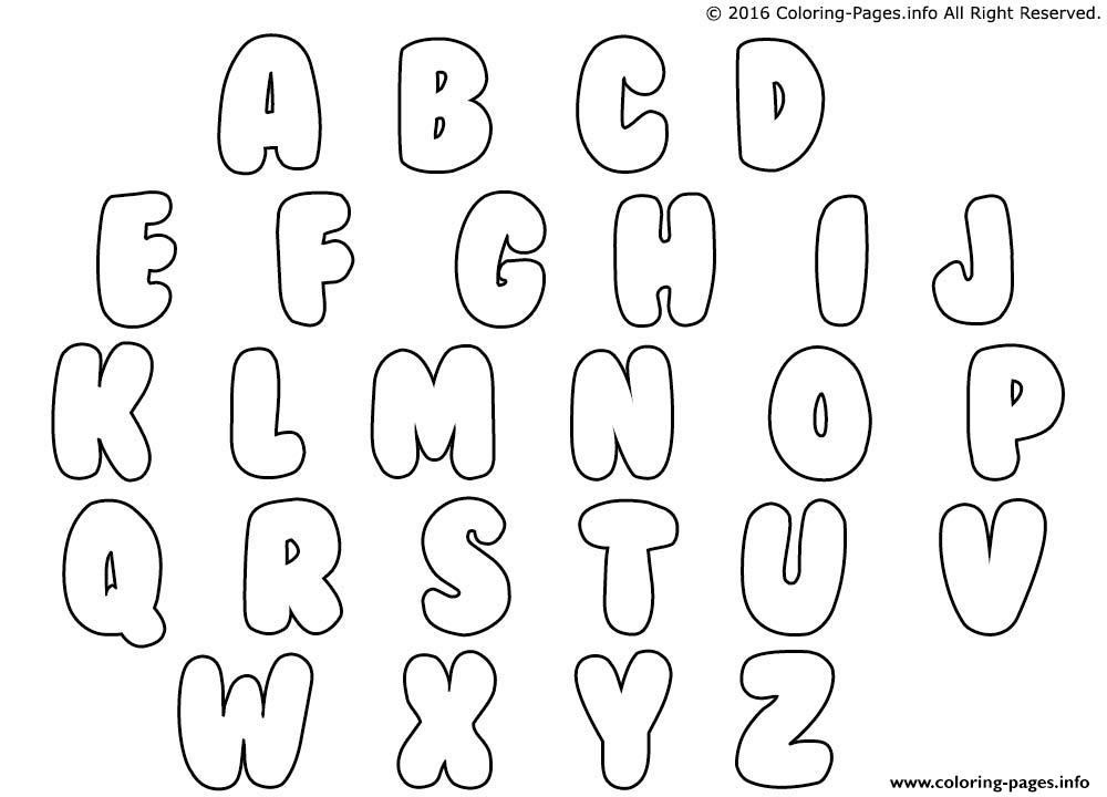 3d Bubble Writing Alphabet A-z Worksheets