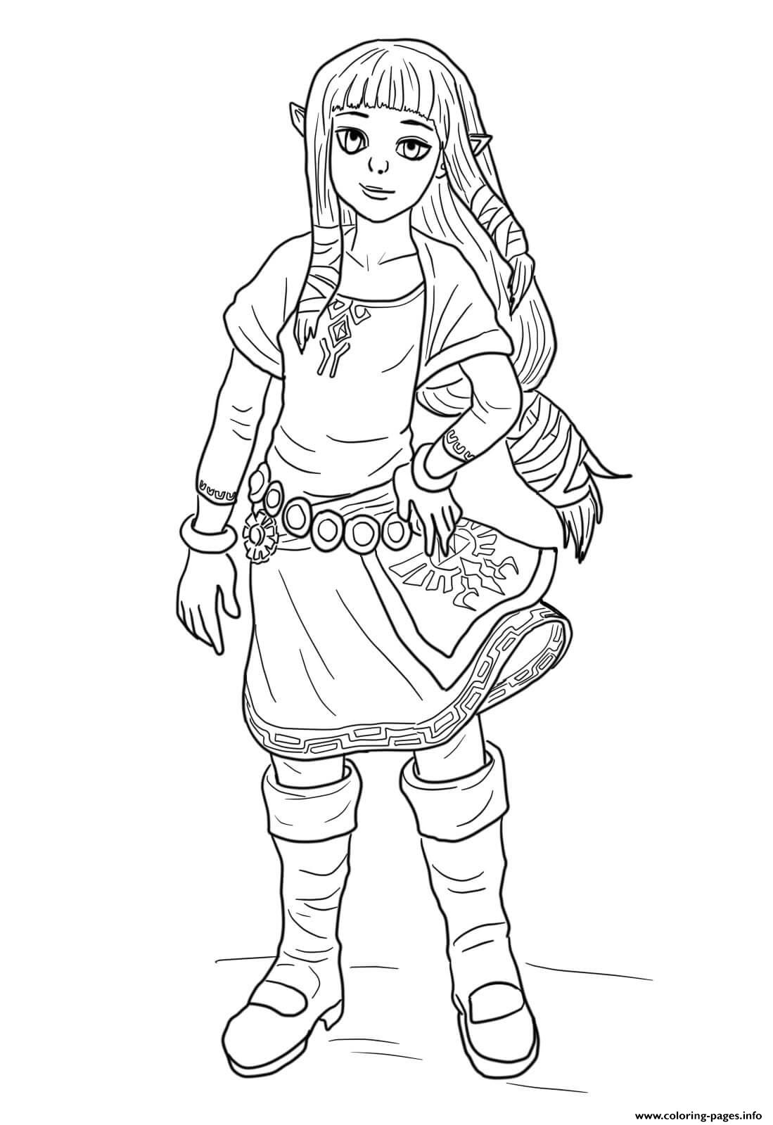 Zelda Coloring Pages Printable