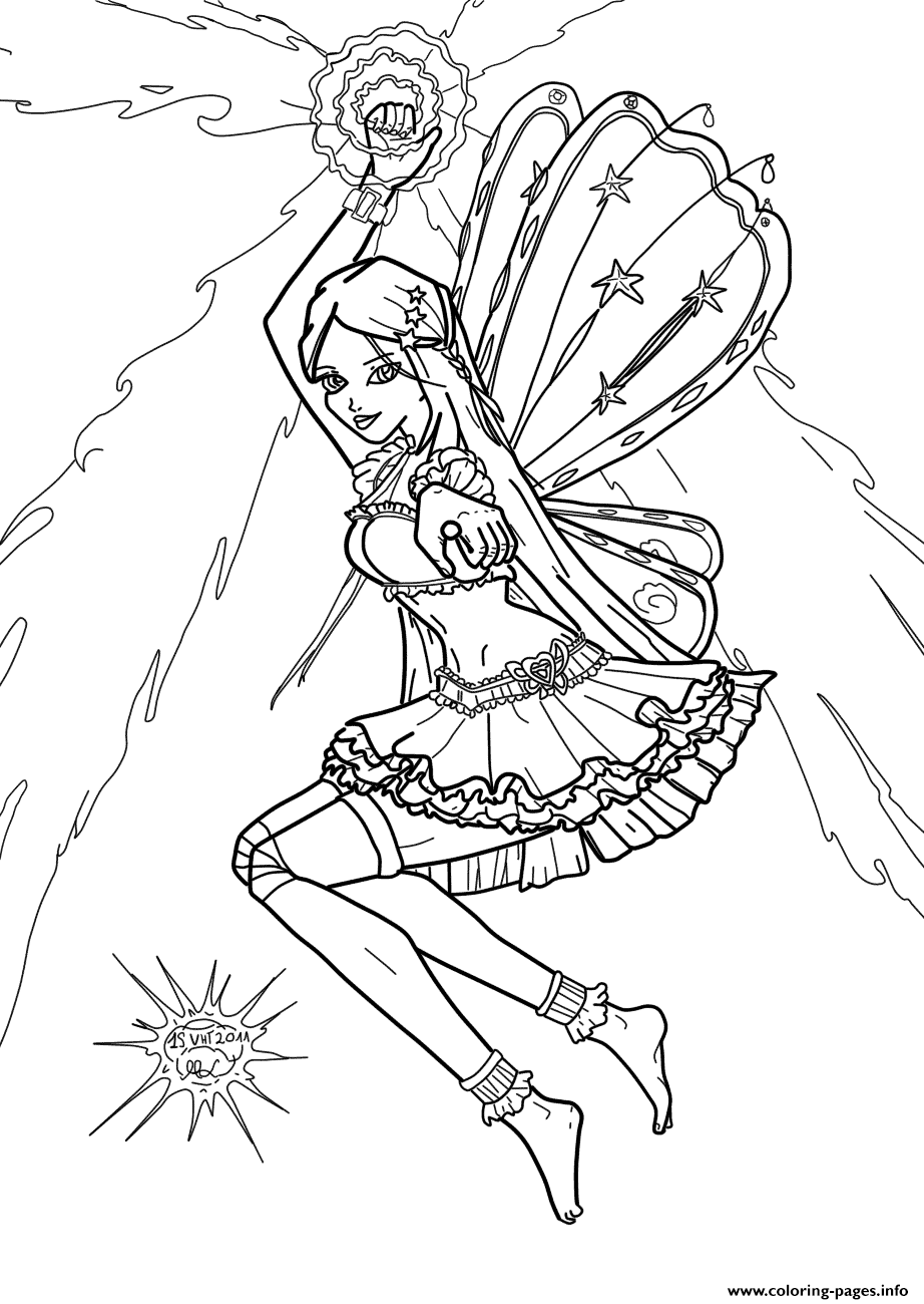 Stella Winx Club Coloring Pages Printable