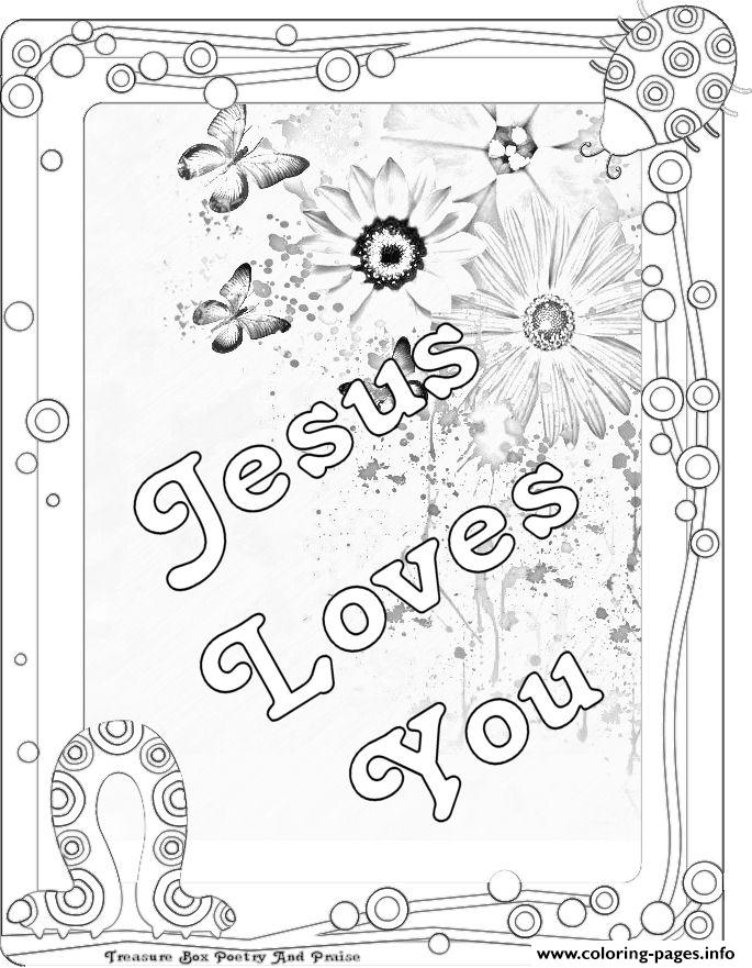 Jesus Loves You Coloring Pages Printable