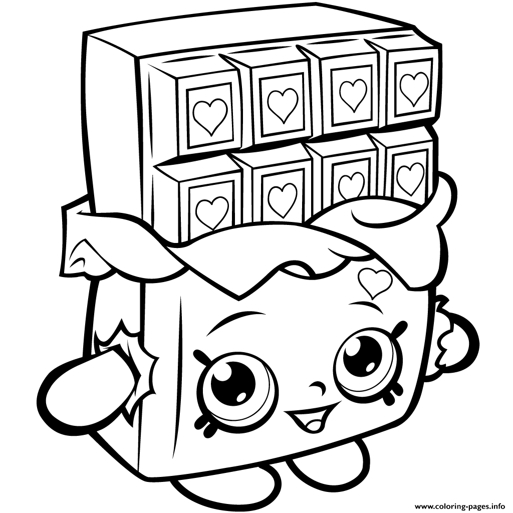 Chocolate Fever Coloring Pages