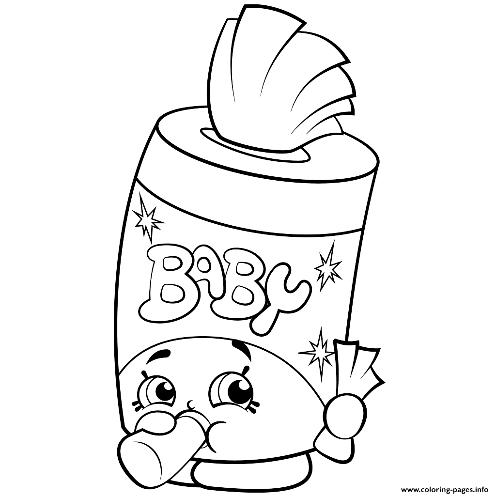Baby Swipes Shopkins Season 2 Coloring Pages Printable