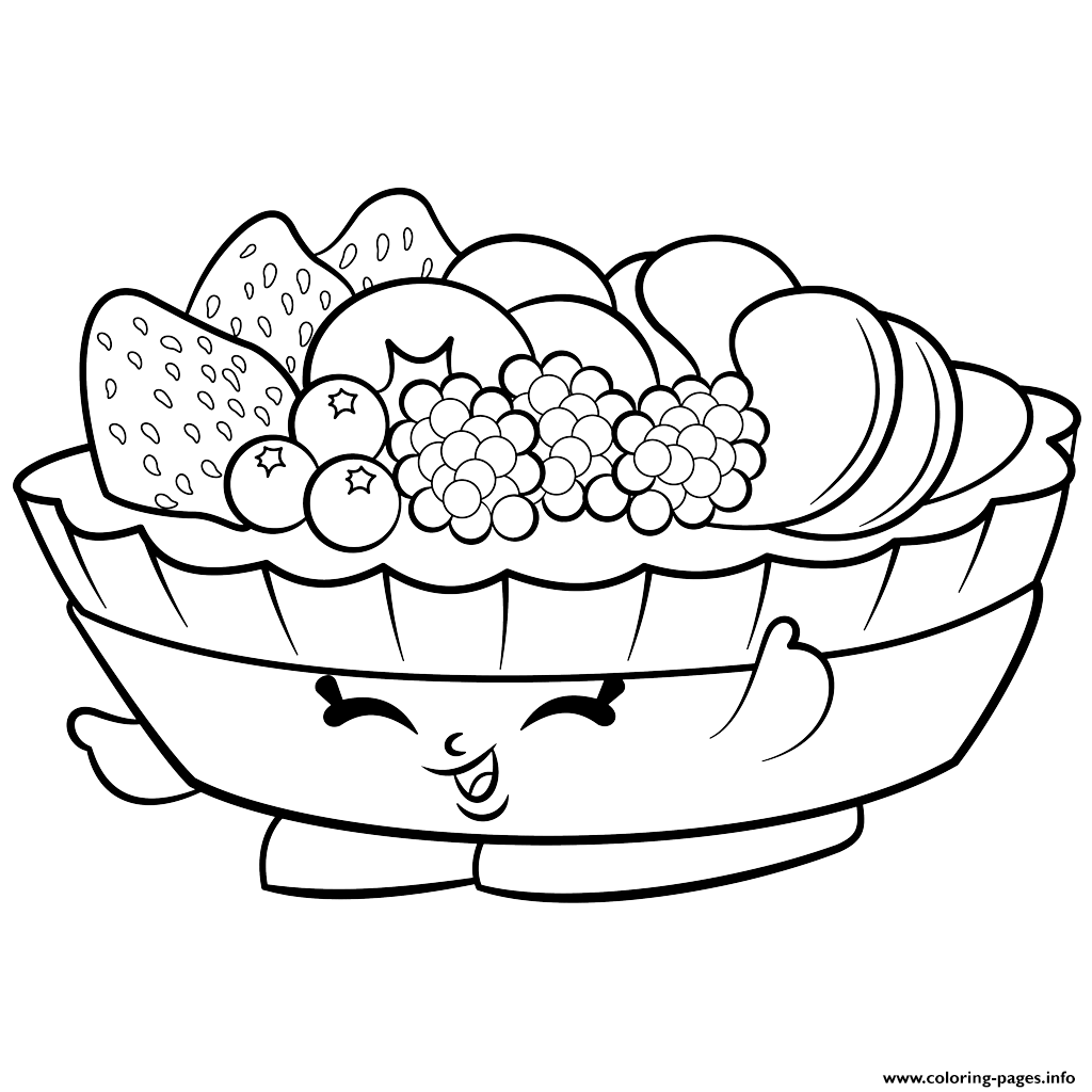 Exclusive Fifi Fruit Tart To Color Shopkins Season 2 Coloring Pages Printable